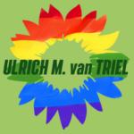Bunte Sonnenblume mit den Worten Ulrich M. van Triel